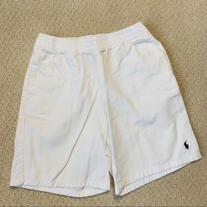 POLO White Elastic Waistband Shorts - Boys Size 7